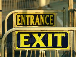 Entrance-exit-signs