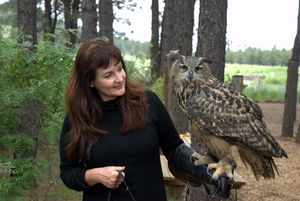 Lynda with Luna in Flagstaff AZ Photo by Eileen Nauman