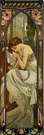 Night Alphonse Mucha