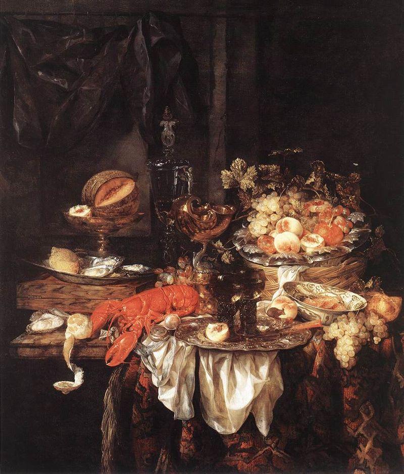 Banquet-still-life-with-a-mouse-abraham-van-beyeren