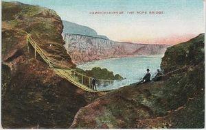 Bridge carrick-a-rede, rope bridge