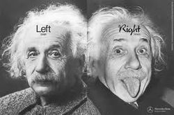 Einstein from left and right