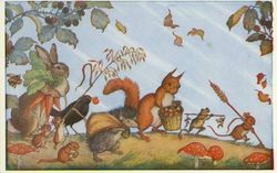 Squirrels Molly Brett Harvest Time