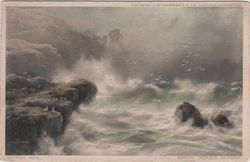 Sea Pounding on Rocks