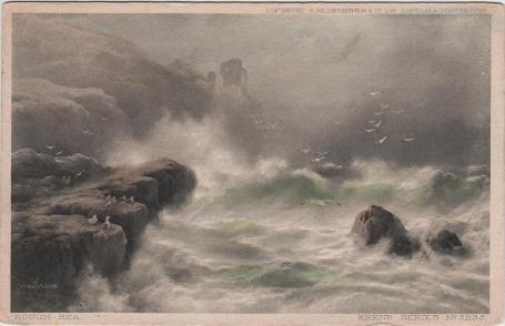 Sea Pounding on Rocks