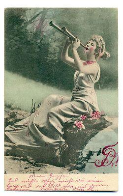 Woman on rug