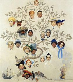 A Family Tree Norman Rockwell