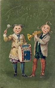Drum postcards
