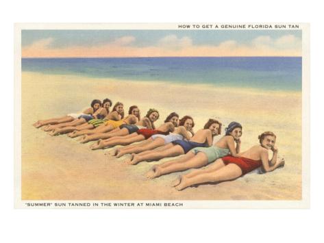 Bathing Beach Beauties