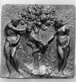 Matteo del Nassaro Panel with the Fall of Adam and Eve