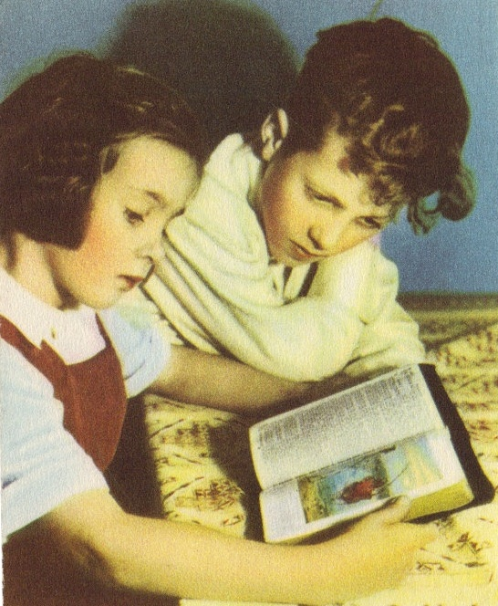 Two Dutch Children Studying Together
