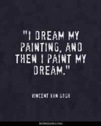 Three Old Masters Hanging In An Art Gallery Van Gogh quote
