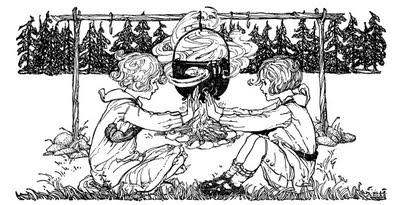 Spiritual Communion Around The Campfire 1920