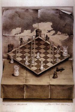 Illusion-chess-board