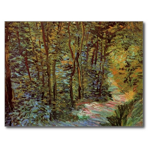 Van Gogh Path In The Woods