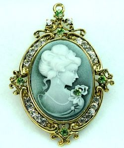 Cameo profile of a man in the shape of his country