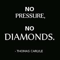 A Diamond In The First Stages Of The Cutting Process saying