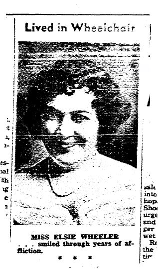 Elsie Wheeler photograph obituary
