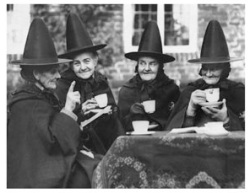 Witches Having Afternoon Tea
