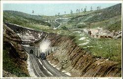 Train Entering A Tunnel