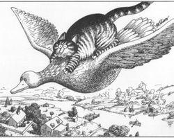 Flock Of Wild Geeze - Kliban Cat