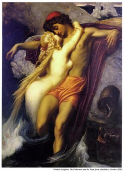 The Fisherman And The Siren - Lord Frederick Leighton (Large)