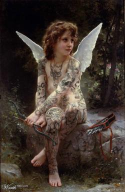 Tattooed cupid