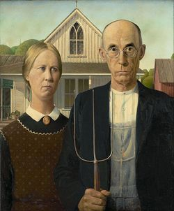 American Gothic - Grant Wood - Spinsters