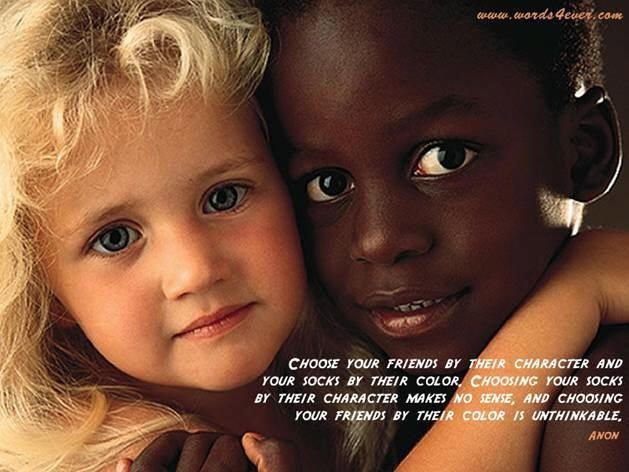 Black And White Children Playing