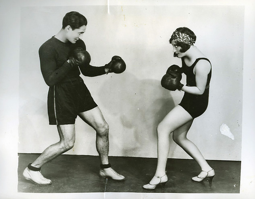 Boys And Girls In Gymnasium Suits Boxing