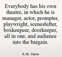 A Large Disappointed Audience A. W. Hare quote