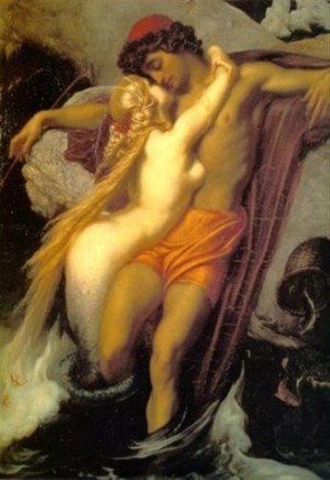 The Fisherman and The Siren. Frederick Lord Leighton (345x500) (2)
