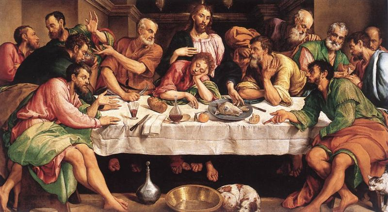 Fellowship Supper Jacopo_Bassano_Last_Supper_1542