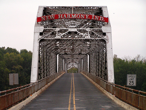 New Harmony bridge